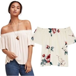 Aritzia Wilfred Sartre Off-The-Shoulder T-Shirt